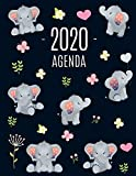 Elefante Agenda 2020: Planificador Diaria | Ideal Para la Escuela, el Estudio y la Oficina | Enero a Diciembre 2020