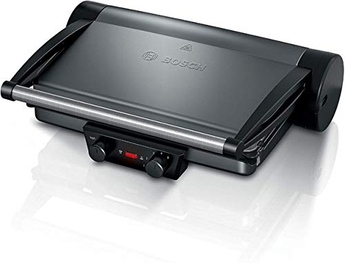 Bosch Elettrodomestici Bistecchiera TCG4215, 2000W, Grigio Siderale [Classe di efficienza energetica A]