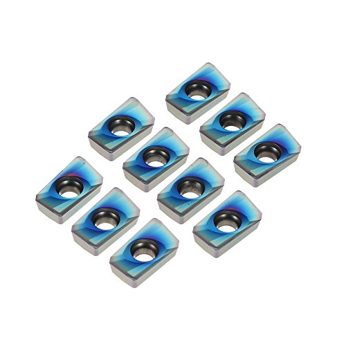 MASUNN 10 stks Blauw Nano HRC52 APMT1604PDER NB7010 25R0.8 Carbide inzetstukken voor Molen Cutter Tool