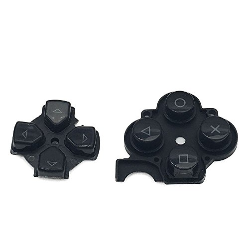 Negro Izquierda Derecha botón Key Pad Set para Sony PSP 3000Slim consola...