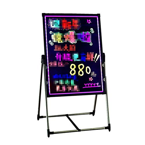HO-TBO Bacheche messaggi e insegne Illuminato cancellabile Neon LED di Scrittura Forum Bundle con Fluorescente Penne Telecomando Banco di Mostra attività (Color : Black, Size : 70x90cm)