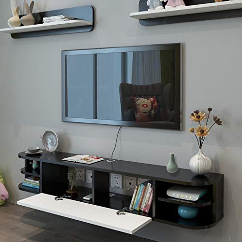 LTJTVFXQ-shelf Consola de TV montada en la Pared Flotante Soporte de TV para Consolas de Medios Soporte de componentes Tablero en Rack Rack Gabinete de TV Consola de Audio/Video suspendida suspendida
