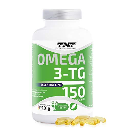 150 Premium Omega 3 Kapseln Hochdosiert – Reines Fischöl mit EPA & DHA ohne Zusätze – Laborgeprüft