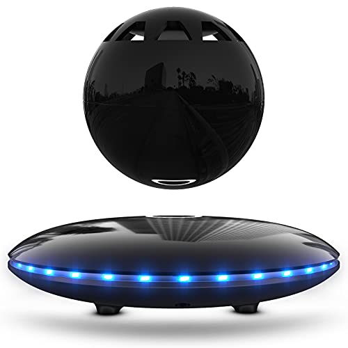 RUIXINDA Levitating Speaker, Wireless Magnetic Floating Bluetooth Speakers with LED Lights, 8W Stereo Sound, Bluetooth 5.0, 360° Rotation, for Home, Office