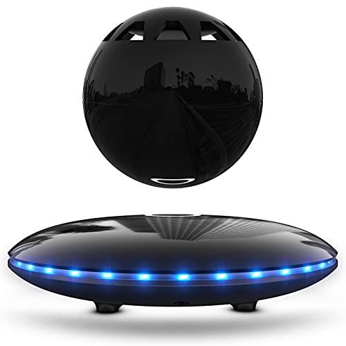 RUIXINDA Levitating Speaker, Wireless Magnetic Floating Bluetooth Speakers with LED Lights, 8W...