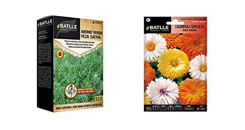 Semillas Batlle Abonos Ecológicos Verde Veza Caja 1,5Kg + de Flores Caléndula...