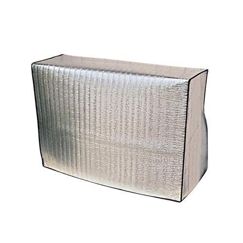 Qingsb 1 Pcs Cover Handige Praktische Conditioner Cover Beschermhoes Airconditioning Zonnescherm voor Buitenbescherming Buiten, 90x62x38cm
