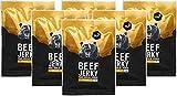 nu3 Beef Jerky Original - Ingwer Honig 6x 50g Trockenfleisch / Dörrfleisch vom grasgefütterten Weiderind - Low Carb 4%, Low Fat 1,5% - satte 58% Rind Protein - Ginger Honey Geschmack