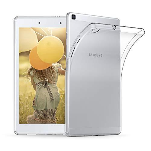 kwmobile Schutzhülle kompatibel mit Samsung Galaxy Tab A 8.0 (2019) - Hülle - Silikon Tablet Cover Hülle Transparent