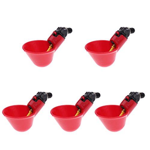 Sharplace 5pcs Bol Distributeur d'Alimentation d'Eau Automatique pour Volaille Oiseaux en Plastique