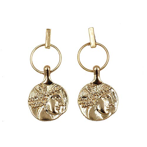 Portrait Coin Pixel Earrings Female Indifference