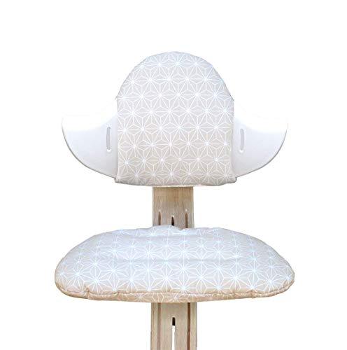 Blausberg Baby - Sitzkissen Set für Nomi Hochstuhl von Evomove - Happy Star Beige