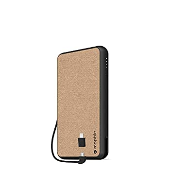 mophie powerstation Plus XL  10,000mAh  - Qi Wireless Charging with Built in Micro USB and Lighning Cables - Khaki  401101697