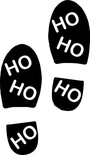 Thorpe Signs - Adesivo da parete in vinile con impronte di Babbo Natale (2 impronte, bianco)