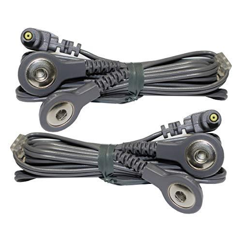 2 cables de conexión de botón o snap axion | Compatibles con VITALCONTROL (SEM 42/43/44/50) | Cables para electroestimulador TENS y EMS | Cables TENS y EMS