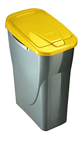 M Home | Cubo de Basura selectivo | plástico | Gris | 21,5 x 36 x 51 cm/25 L | ECOBIN 25 | PLS8081-19