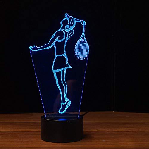 Luz De Noche LED 3D Juego De Ping Pong Forma De La Lámpara Lámpara De Mesa De Cambio De 7 Colores Táctil De Interruptor De Escritorio Decoración Lámparas Regalo De Cumpleaños Auto