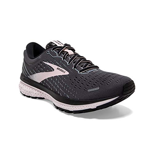 Brooks Womens Ghost 13 Running Shoe - Black/Pearl/Hushed Violet - 2A - 9.5