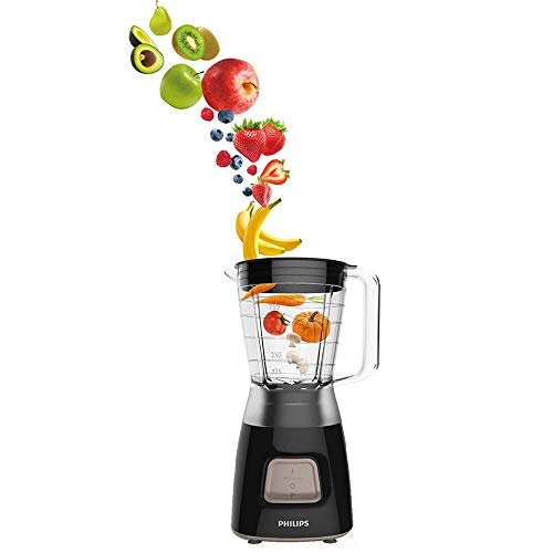 Philips HR2052/91 Daily Collection Blender, 1.25 Litre, 450W, Black