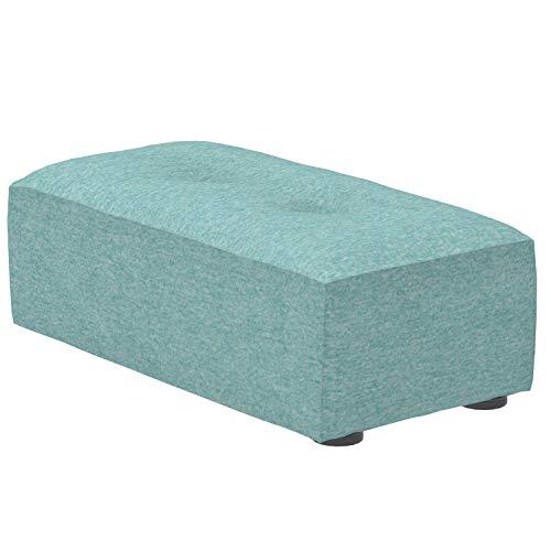 Marca Amazon -Alkove Elvas - Reposapiés bajo para sofá modular, 48 x 93cm, turquesa