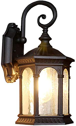 1 lampen buiten muur lantaarn armaturen outdoor wandlamp, E26 waterdichte outdoor wandlamp led outdoor muur schans voor balkon tuin garage Patio-b 1 licht