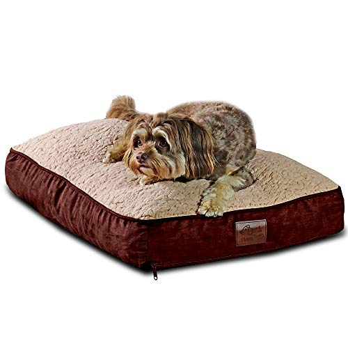 Floppy Dawg Medium Dog Bed with Removable Cover and Waterproof Liner. Stuffed to 8 Inches High with...