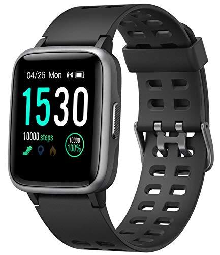 スマートウォッチ 腕時計 Yamay 最新 万歩計 心拍計 活動量計 ストップウォッチ IP68防水 最長連続7日間使用可能 画面の明るさ調節 着信電話/Line/Twitter/SMS/アプリ通知 座り立ち注意 日本語アプリ iphone&Android対応
