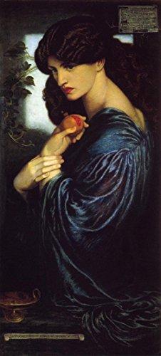 "Proserpine by Dante Gabriel Rossetti - 13"" x 30"" Premium Canvas Print"