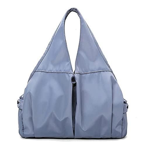 MAVL. Sport Bag Palestra con Wet Pocket Scompartimento di Viaggio Borsone per Uomini e Donne Leggero,Borsa da Viaggio Pieghevole Borsa Donna e Uomo Sportiva (Colore : Blu)