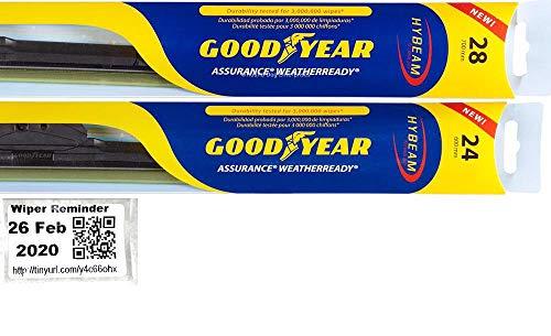Windshield Wiper Blade Set/Kit/Bundle for 2006-2015 Honda Civic (Coupe) - Driver & Passenger Blades & Reminder Sticker (Assurance WeatherReady)