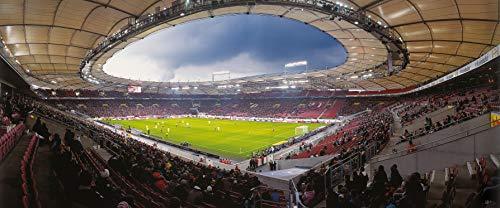 Stuttgart Stadion Panorama – Poster 120 X 50 Cm – Hochwertiger Fineartprint
