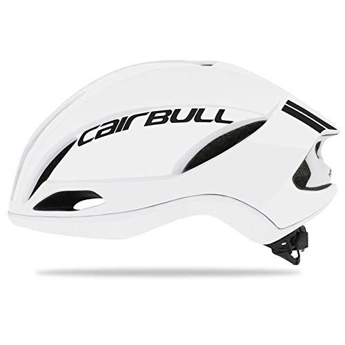 IAMZHL Neuer Radhelm Rennrad Rennrad Aerodynamik Pneumatischer Helm Herren Sport Aero Fahrradhelm Casco Ciclismo-White