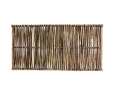 bambus-discount.com Haselnuss Zaun Sommer mit 75 x 180cm - Sichtschutzzaun aus Haselnuß