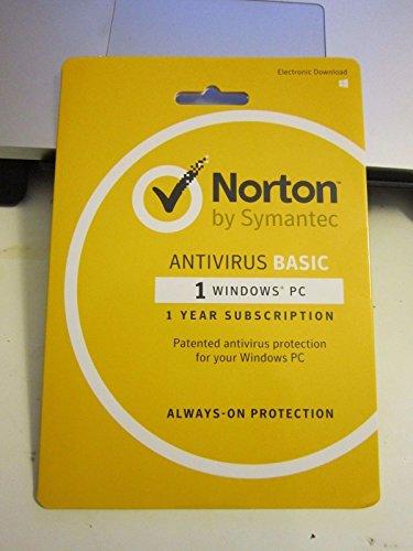 NORTON ANTIVIRUS BASIC 1 YEAR 1 PC Product Key Card
