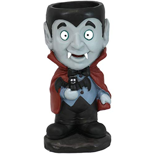 Sunnydaze Count Dracula Vampire Halloween Large Statue with Built-in Candy Bowl Dish, 27-Inch Tall