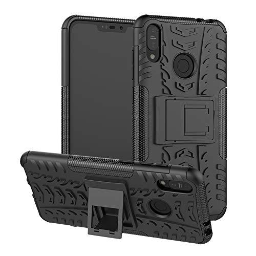 LFDZ Asus ZB633KL Hülle, Abdeckung Cover schutzhülle Tough Strong Rugged Shock Proof Heavy Duty Case Für Asus Zenfone Max (M2) ZB633KL (Nicht zutreffend Asus Zenfone Max Plus (M1) ZB570TL),Schwarz