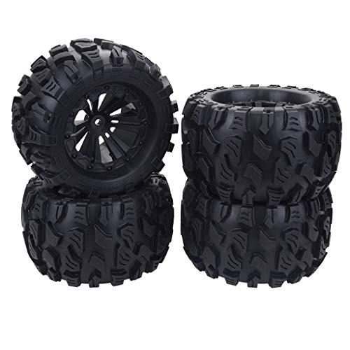 Bonarty 4PCS 1/10 RC Llanta de Rueda de Repuestos Coche para Buggy Vehículo, Monster Truck, Bigfoot