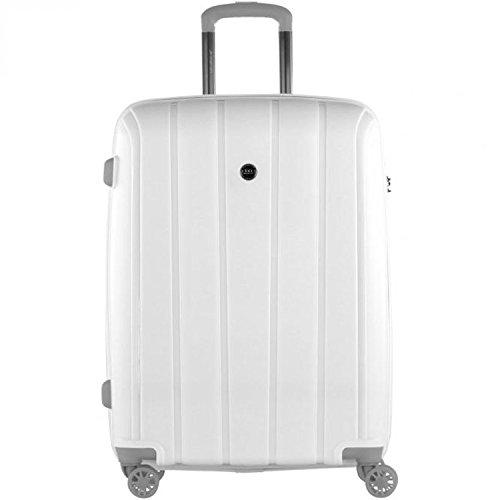 Reisekoffer March 15 Koffer Aspen Weiss 66 cm Hartschale Trolley Case Bowatex