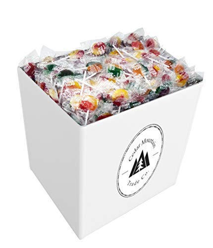 Lollipops - 5lbs of Assorted Flavors of Mixed Fruit Suckers - Bulk Candy, Great for Office, Bank, School, Kids, and Adults Who Want the Finest Swirl Lollipop Candy
