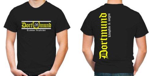 Dortmund Tradition Verpflichtet T-Shirt | Fussball | Schwarz | Zeche | Herrn | Liebe | Ruhrgebiet | Männer | Trikot | Westfalen | FB (XL)