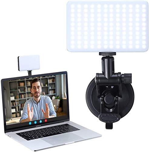 Laptop Lampe für Videokonferenzen, VIJIM Videokonferenz Beleuchtung Dimmbare Gebührenpflichtig PC Desktop Licht für Live-Streaming, Videoanruf, Konferenz, Online-Unterricht, Spiel und Aufnahme