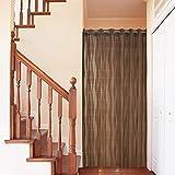 アコーディオンカーテン パタパタカーテン 間仕切りカーテン 150cm幅 200cm丈 ウエーブ ブラウン 91999