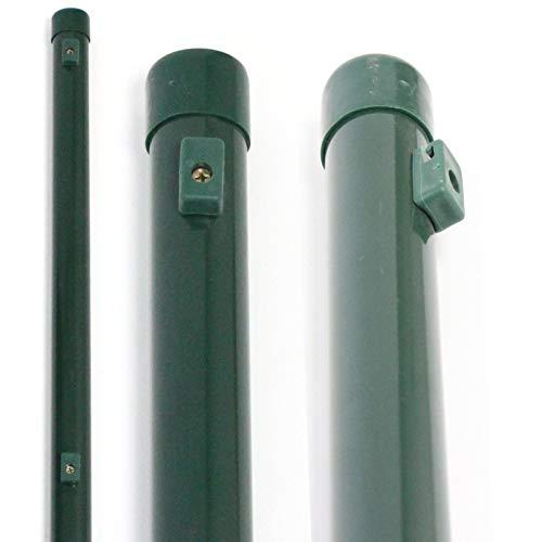ESTEXO Zaunpfosten oder Zaunstrebe 34 mm RAL 6005 Moosgrün Zaunpfosten 1,75 m
