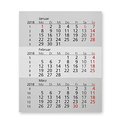 Truento Kalendarium für 2 Jahre (2021 & 2022) - passend für 3-Monats-Tischkalender Kunststoff