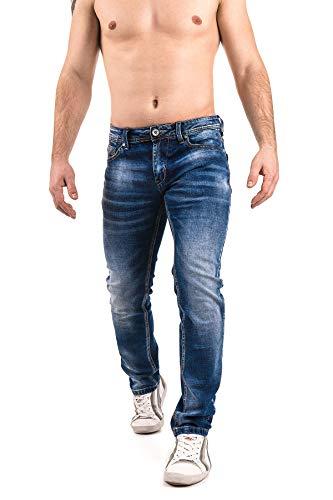 Instinct Jeans Uomo Slim Fit Risvolto Elasticizzati Denim Grigio Blu Skinny Cotone WA96 (32/46, Blu G03)