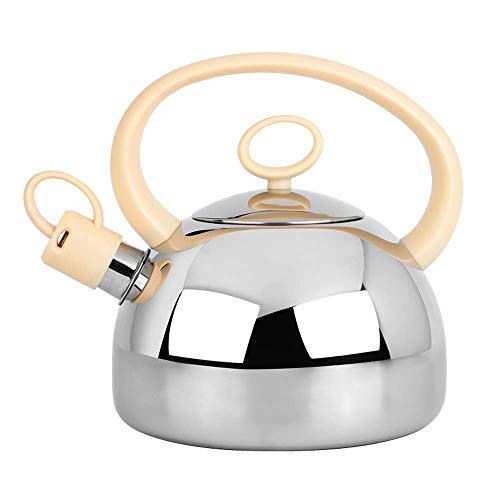 Bouilloire à sifflet, pichet à thé 2 litres, Acier Inoxydable, Argent