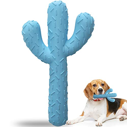 HAOPINSH Dog Chew Toys, Rubber Aggressive Dog Chewers Durable Tough Dog Toys Cactus Dental Toy for Training and Cleaning Teeth