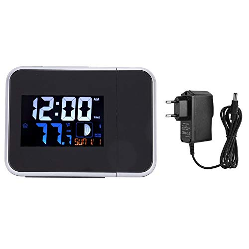 LED digitale wekker Multifunctionele radio Elektronische wekker Digitale projectieklok voor thuiskantoor(EU-stekker)