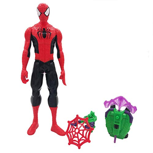 Action Figure Spiderman With Jetpack Accessories Multicolor PVC Figure Superhero Spiderman Multi-joint Movable Suitable For Children's Birthday Gift H28cm FDWFN