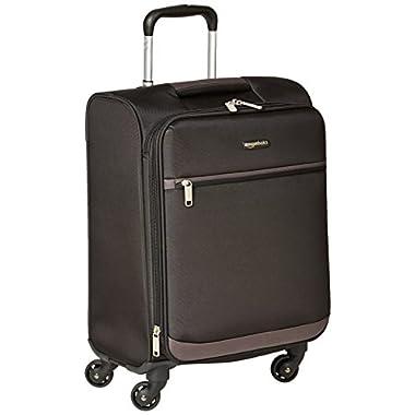 AmazonBasics Softside Spinner Luggage - 21-inch, Carry-on/Cabin Size, Black